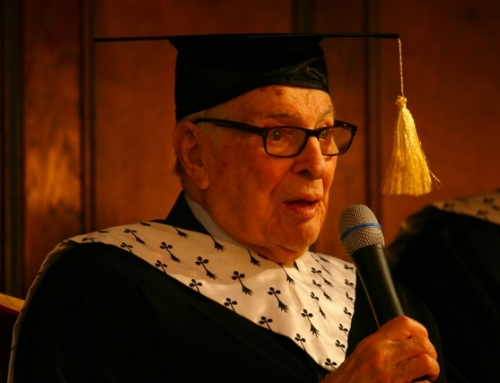 Profesorul Kenneth Arrow, laureat al Premiului Nobel în Economie, Doctor Honoris Causa al UAIC