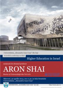 Afis conferinta Aron Shai rector Tel Aviv