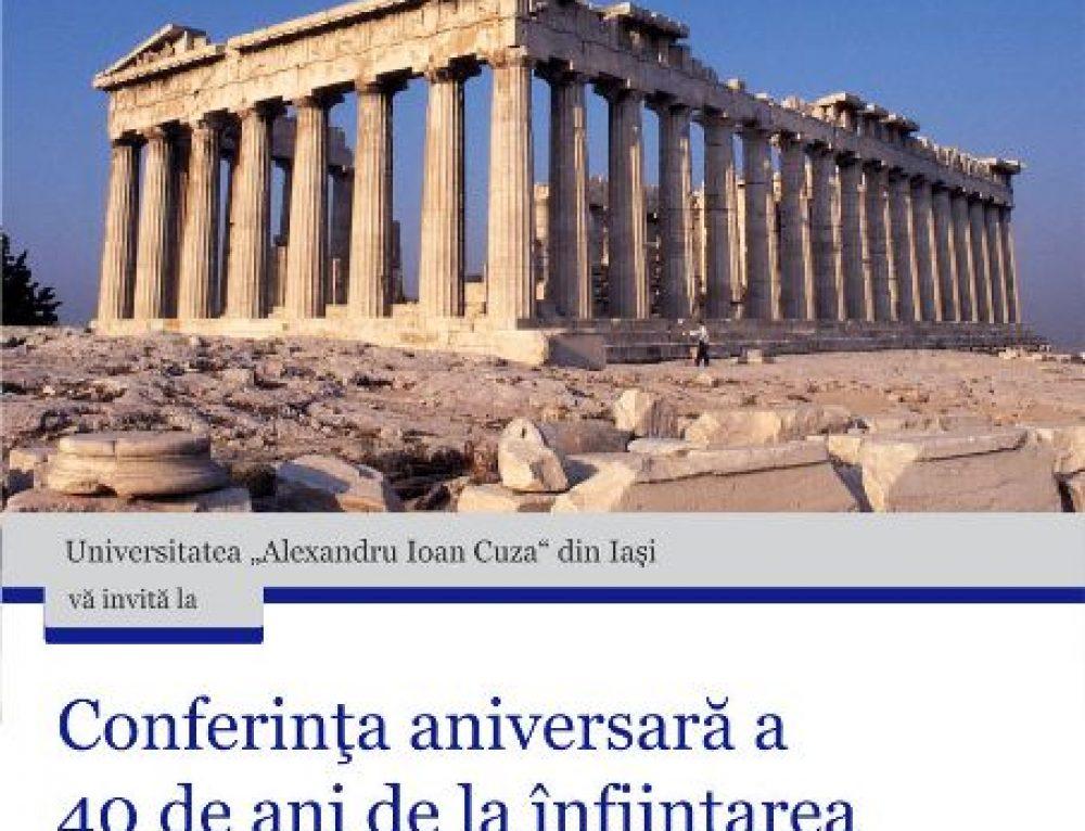 40 de ani de la înfiinţarea Lectoratului de Neogreacă