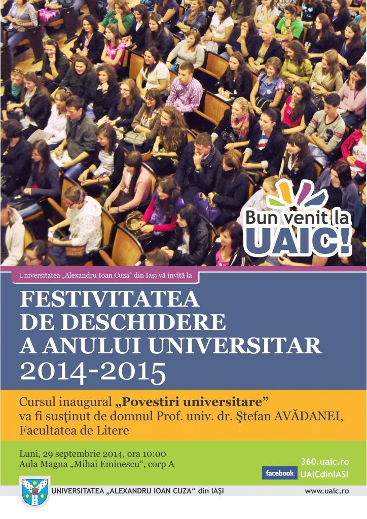 AFIS FESTIVITATE DESCHIDERE AN UNIVERSITAR 2014-2015 CONVERT