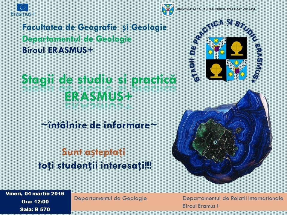 anunt fac geologie