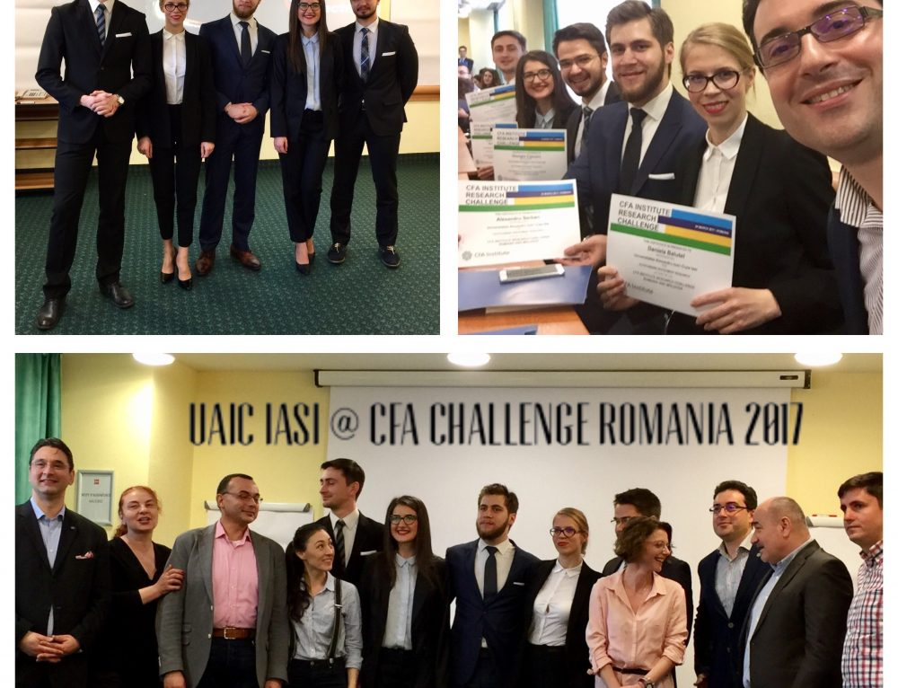 "Alexandru Ioan Cuza University of Iasi, the winner of the  ""CFA Institute Research Challenge Romania and Republic of Moldova"" competition"