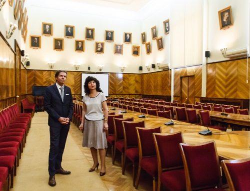 Consulul Onorific al Italiei la Iași, vizită în premieră la UAIC
