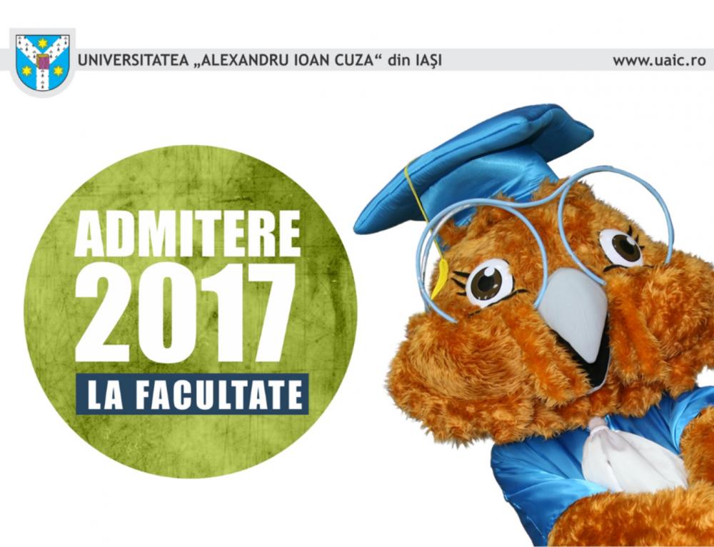 Informații despre sesiunea Septembrie 2017 a Admiterii la UAIC