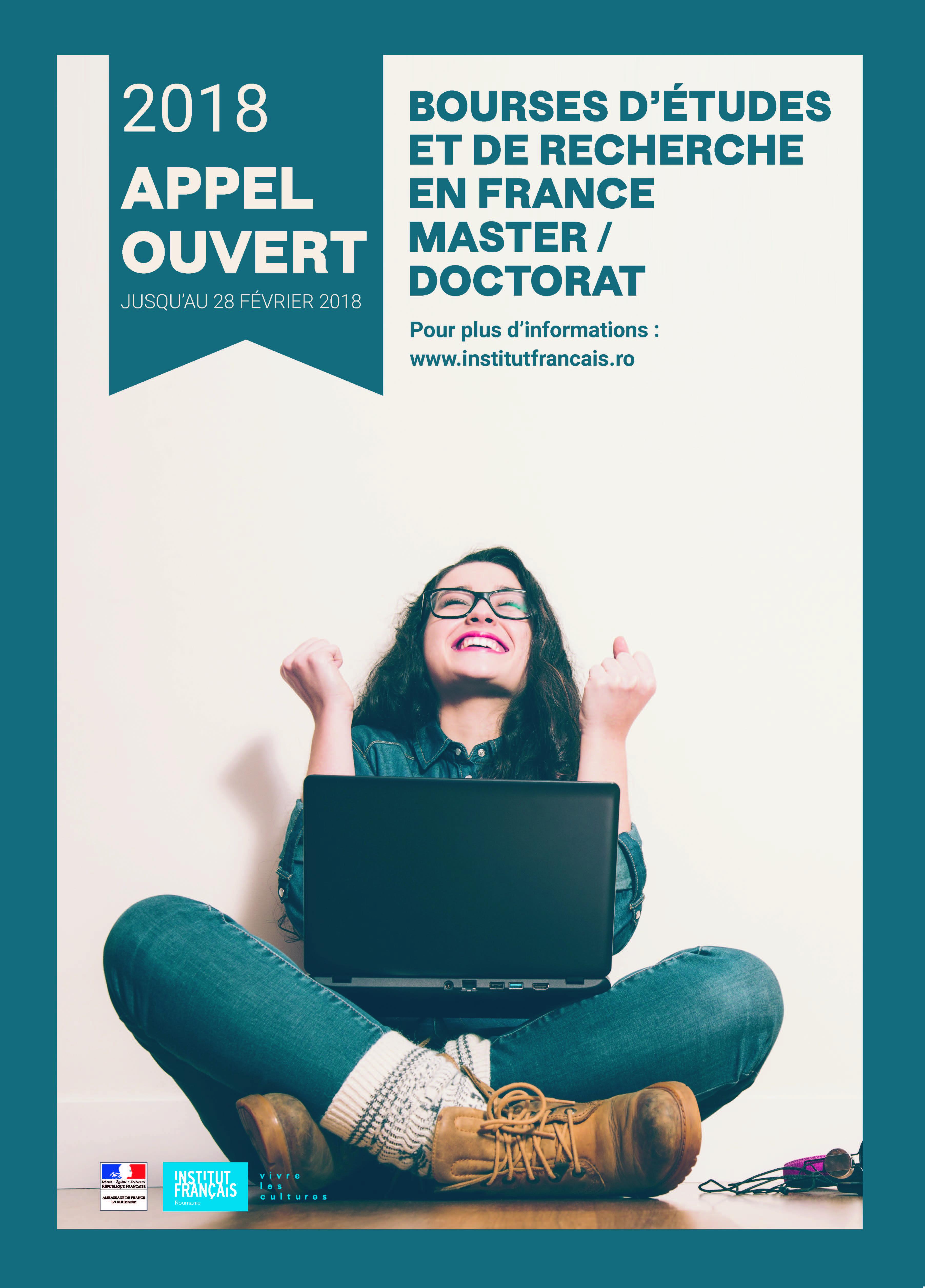 Burse de studiu în Franța pentru masteranzi și doctoranzi