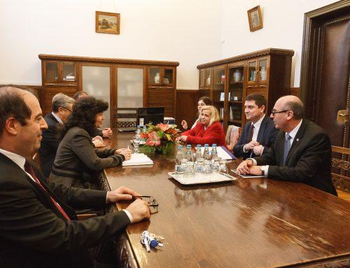 Întâlnire între conducerea UAIC și ministrul Comunicațiilor și Societății Informaționale