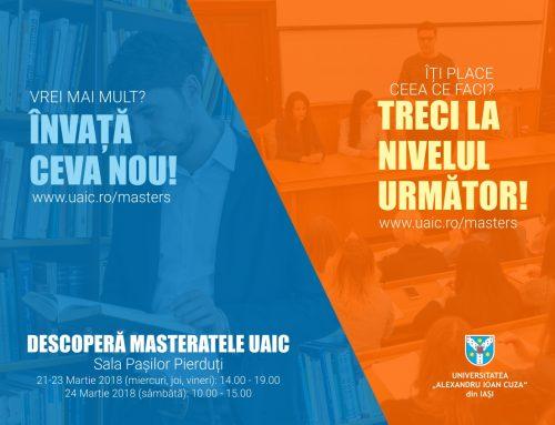 Eveniment dedicat ofertei studiilor de master la UAIC