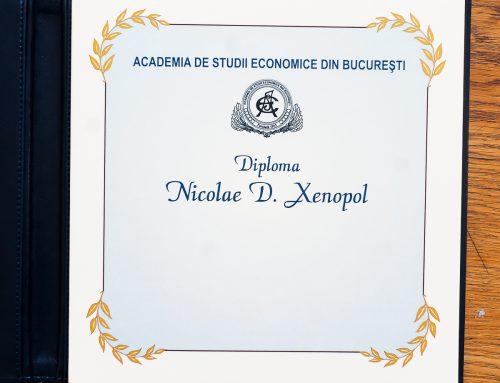 "UAIC a primit Diploma ""Meritul universitar cu medalia de aur – Nicolae Xenopol"""