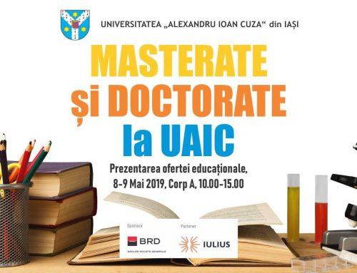 UAIC își prezintă oferta studiilor de masterat și doctorat