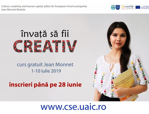 Curs Jean Monnet – Culture and creativity: key factors for prosperity in European Union