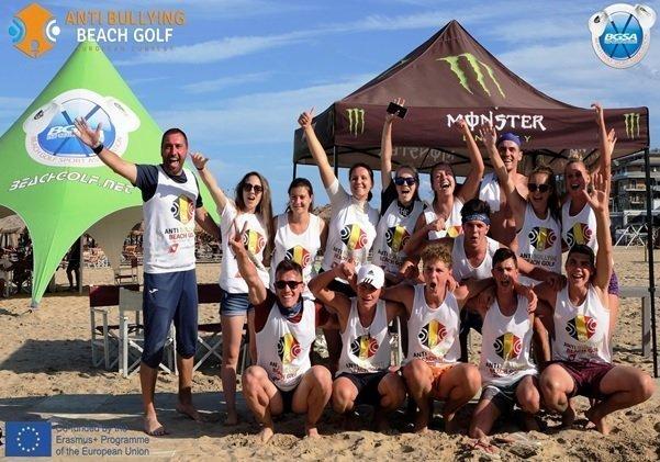 """Echipa UAIC a reprezentat România la Finala Campionatului Europen din cadrul proiectului Erasmus +""""Anti Bullying Beach-Golf Contest"""""""