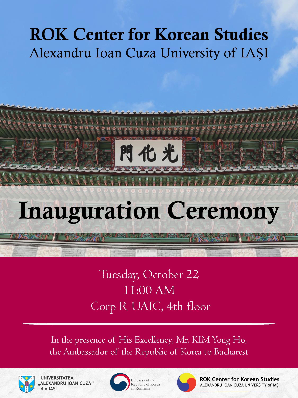 UAIC inaugurează Centrul de Studii Coreene ROK