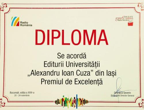 Editura UAIC a obținut Premiul de Excelență la Gaudeamus 2019