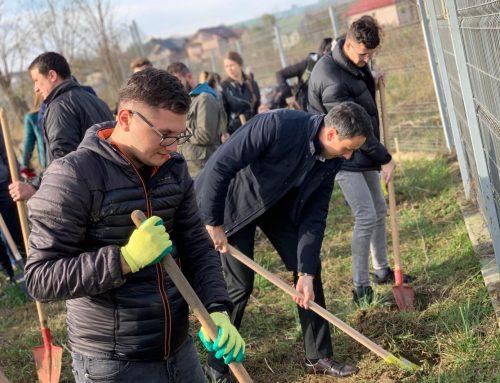 UAIC a plantat arbori la Stațiunea de la Ezăreni