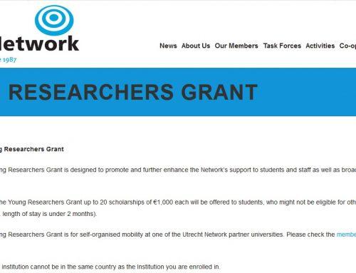 Granturi Utrecht Network pentru tineri cercetători