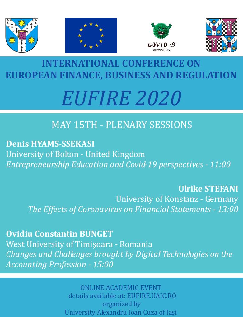 UAIC organizează online a patra ediție a conferinței internaționale EUFIRE