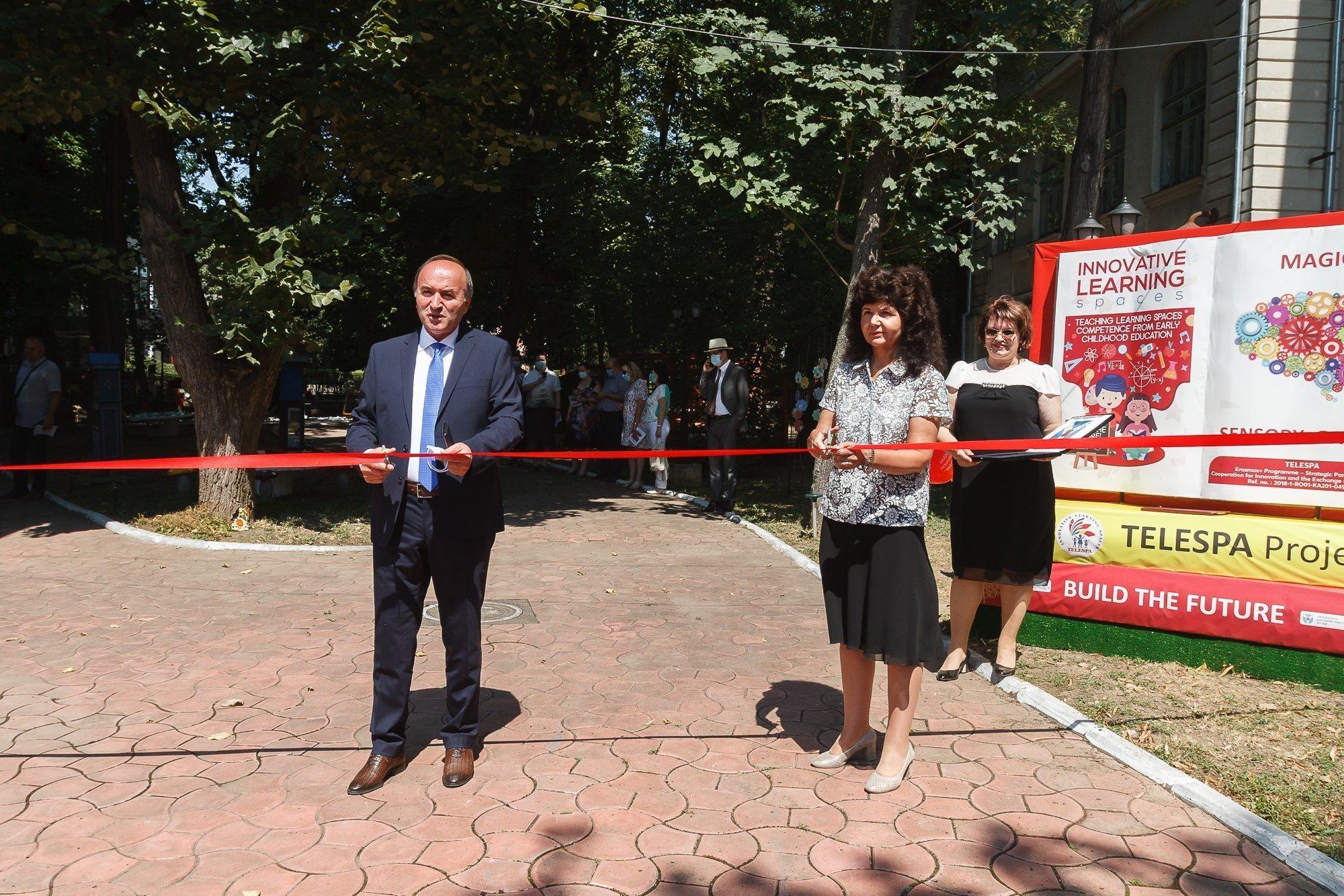 """UAIC a inaugurat Grădina Senzorială """"Magic"""", în cadrul proiectului TELESPA"""