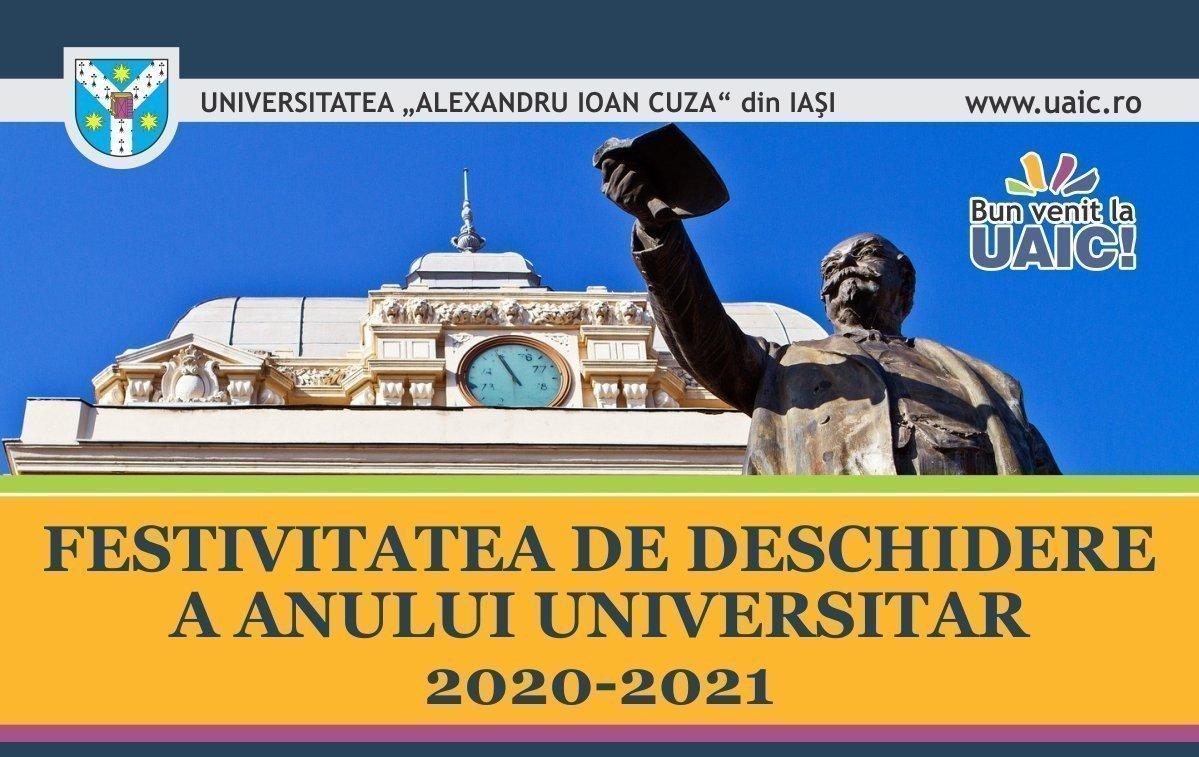 Deschiderea anului universitar 2020-2021 la UAIC