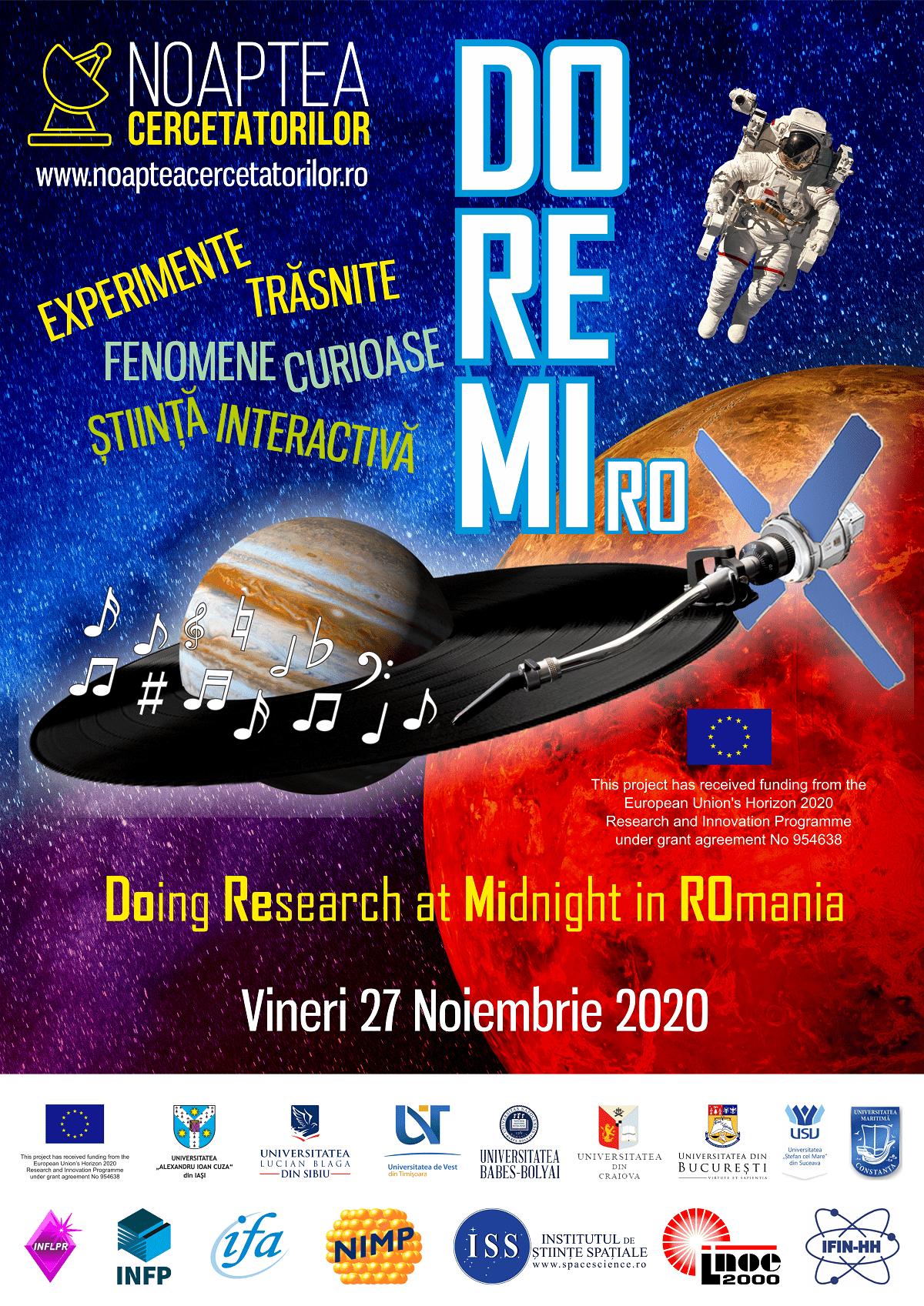 Noaptea Cercetătorilor încântă publicul ieșean cu știință pe 27 noiembrie