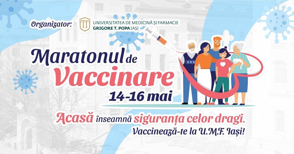 UAIC susține maratonul vaccinării împotriva COVID-19 organizat de UMF Iași