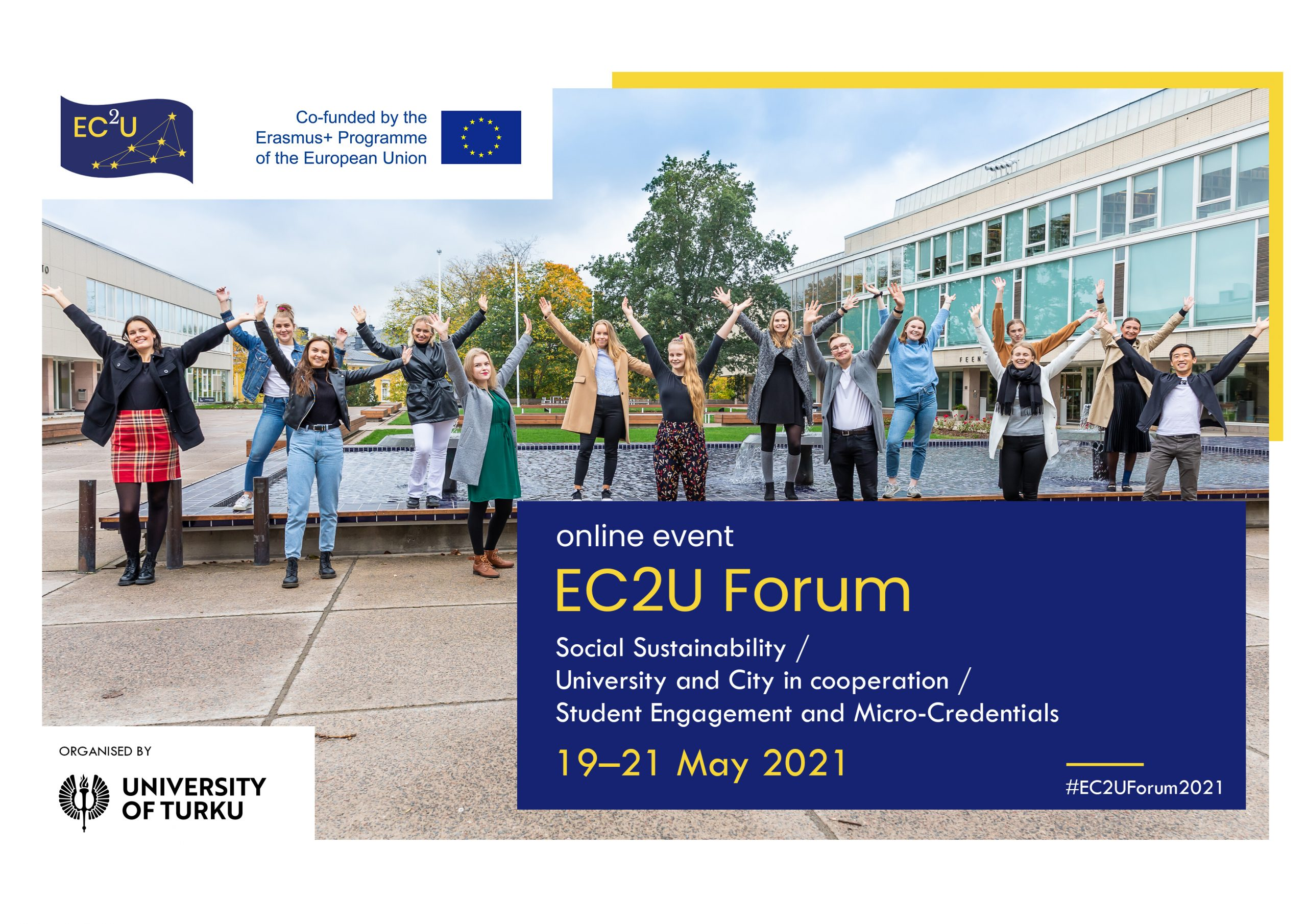 UAIC, membră a consorțiului de Universități Europene EC2U, anunță organizarea celui de-al doilea forum online