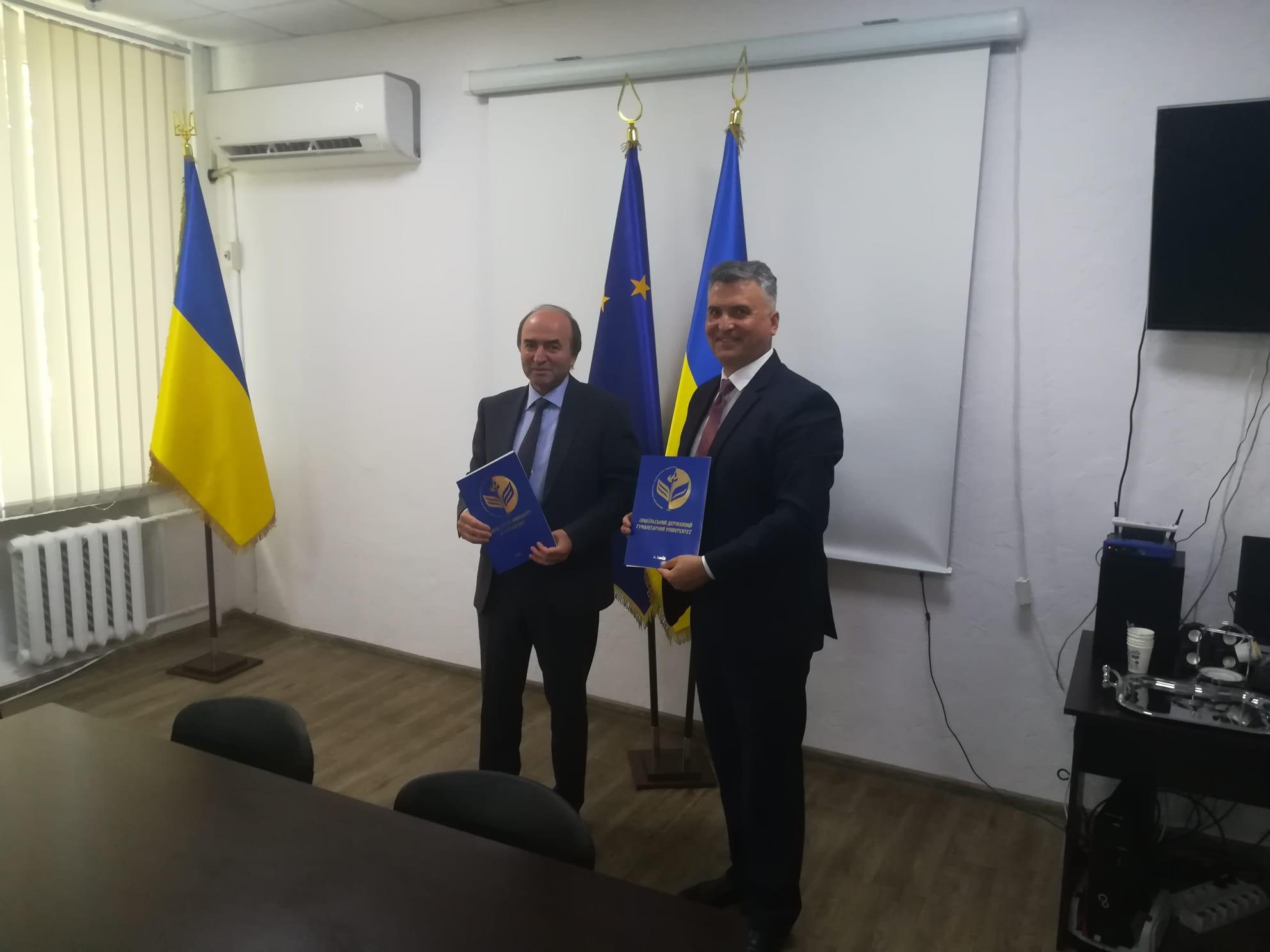Rectorul UAIC, vizită oficială la Universitatea din Ismail, Ucraina