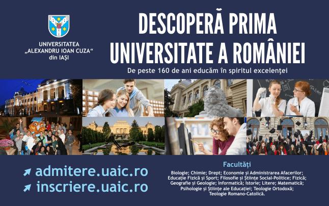 Informații despre sesiunea septembrie 2021 a admiterii la UAIC